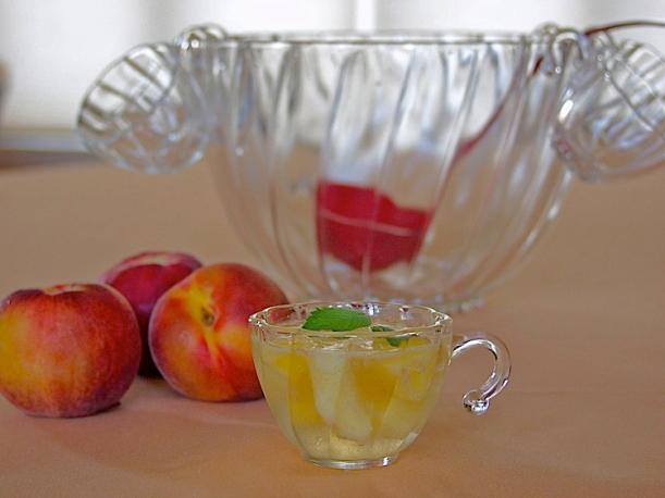 Pfirsichbowle