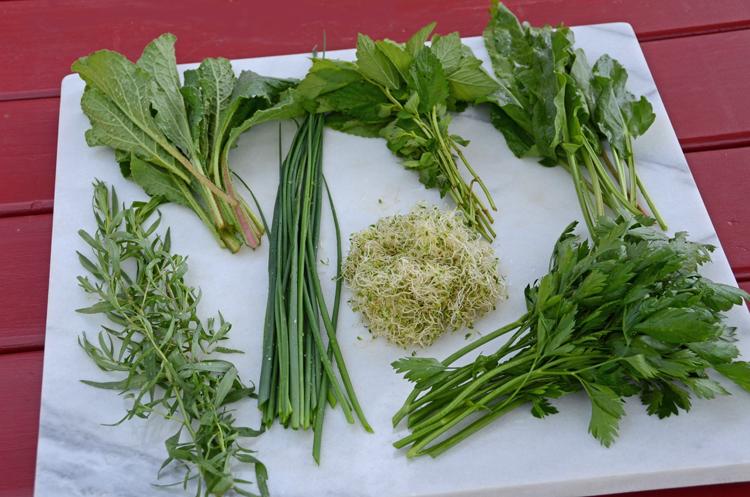 7 herbs for Grüne Soße