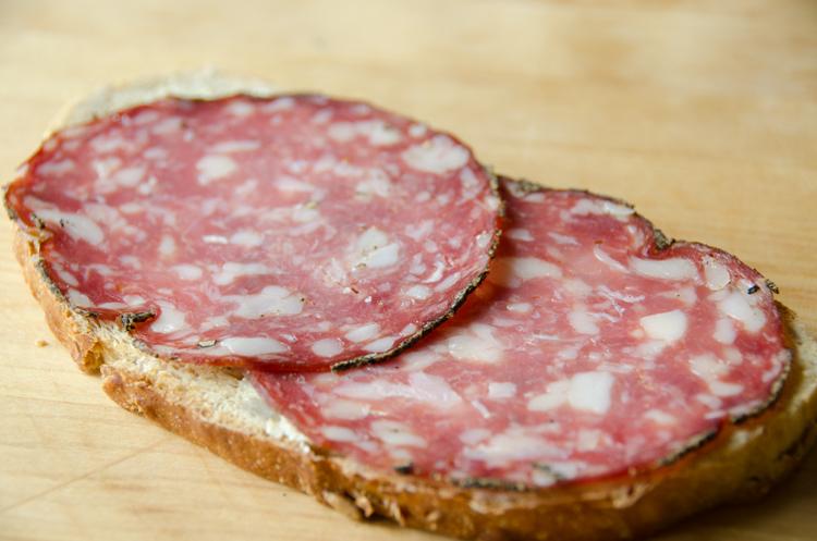 Salami sandwich, German style