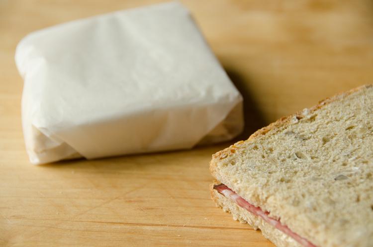 Salami sandwich to go