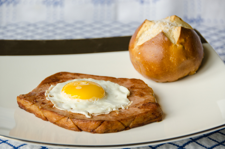 Leberkäse with fried egg