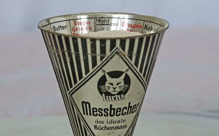 German antique measuring cup
